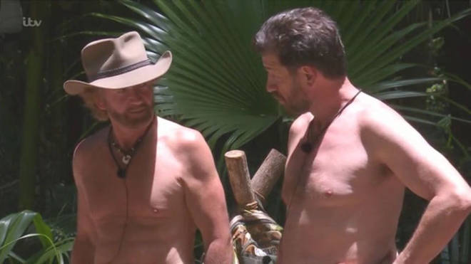 Noel Edmonds in conversation with Nick Knowles on I'm a Celeb