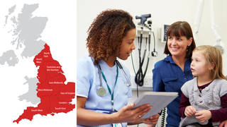 Some area in England have almost 3,000 people per one GP