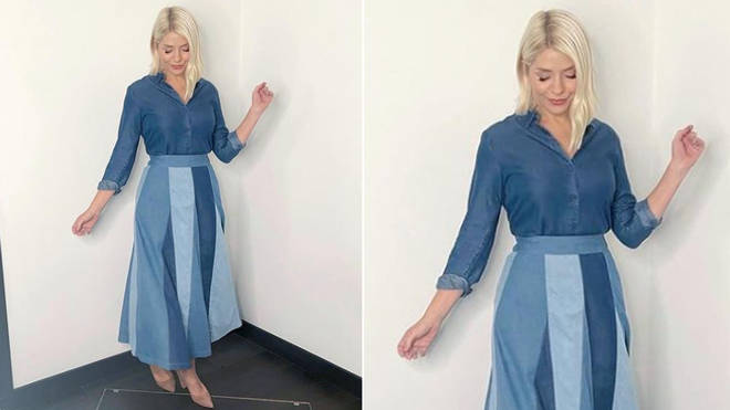 Holly Willoughby is wearing an outfit from the high street
