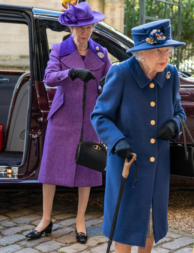 The Princess Royal joined the Queen at the engagement today, held in Westminster Abbey