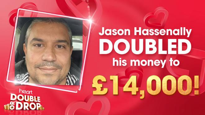 Jason wins £14,000 on Heart's Double or Drop