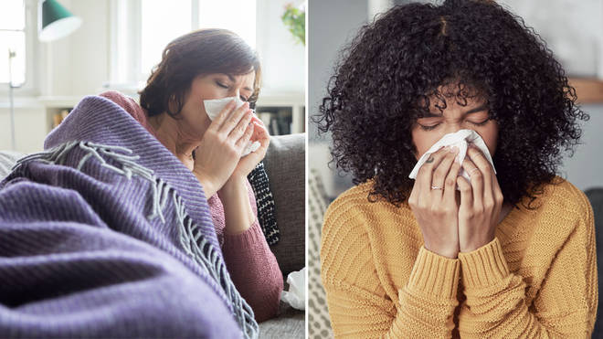 Many people in the UK are suffering with a cold (stock images)