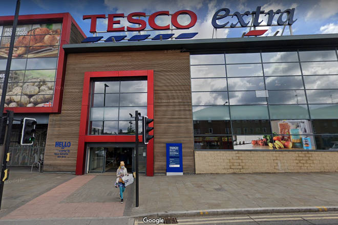 The Tesco store is on Drummond Street in Rotherham