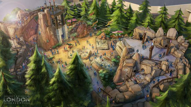 There will be dinosaur rides in the London Resort