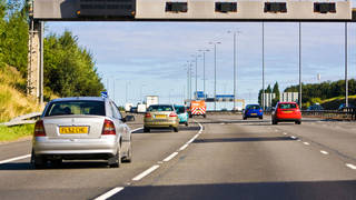 You can slapped with a fine for driving in the wrong lane