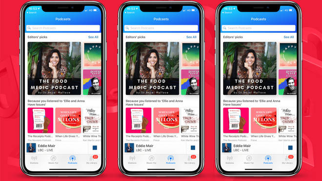 The updated Heart app has all your favourite shows - and podcasts - in one place