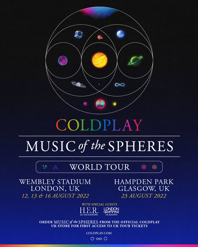 Coldplay have announced some huge stadium shows in Glasgow and London