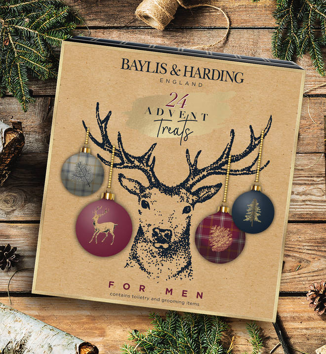 This advent calendar is packed with men's pampering goodies
