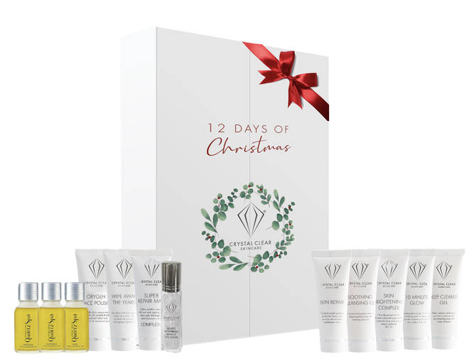 This calendar is packed full of skin clearing products