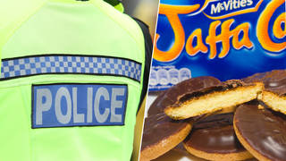 A policeman has been fired after underpaying for Jaffa Cakes