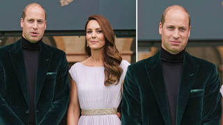 Prince William wore a green velvet blazer to last night's event