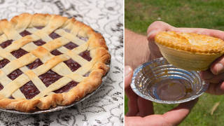 Brits are facing a possible pie shortage (stock images)