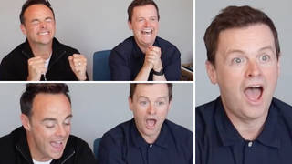 Watch as Ant and Dec react to the I'm A Celebrity line-up