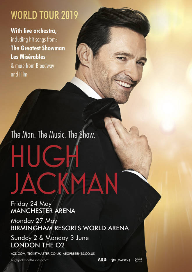 Hugh Jackman is going on a global tour in 2019