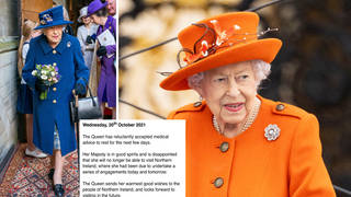 The Queen has cancelled her trip to Northern Ireland