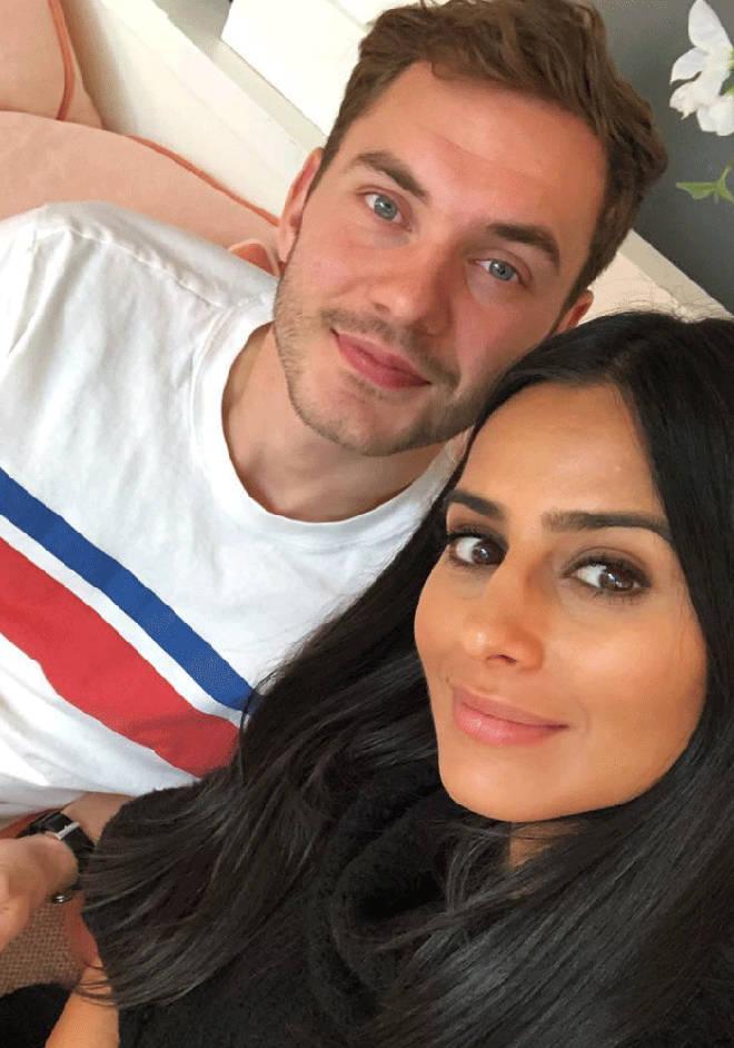 Sair Khan and boyfriend Simon Instagram selfie