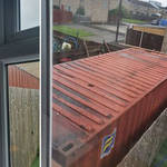 A mum of four has been left furious by her neighbour's garden 'shed'