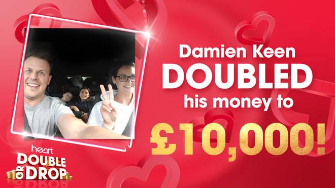 Damien Keen doubles his money to £10,000!