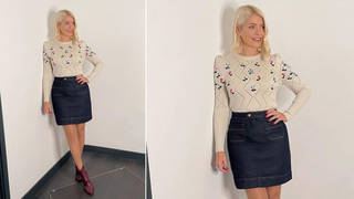 Holly Willoughby is wearing an autumnal outfit today