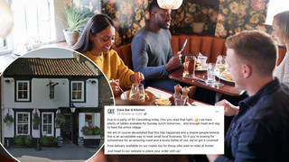 A restaurant has thanked the local community after 50 people pulled out of a booking