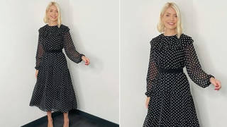 Holly Willoughby is wearing a dress from Albaray