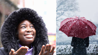 Snow could arrive in parts of the UK in early November (stock image)