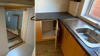 The couple found a hidden room in their rented flat