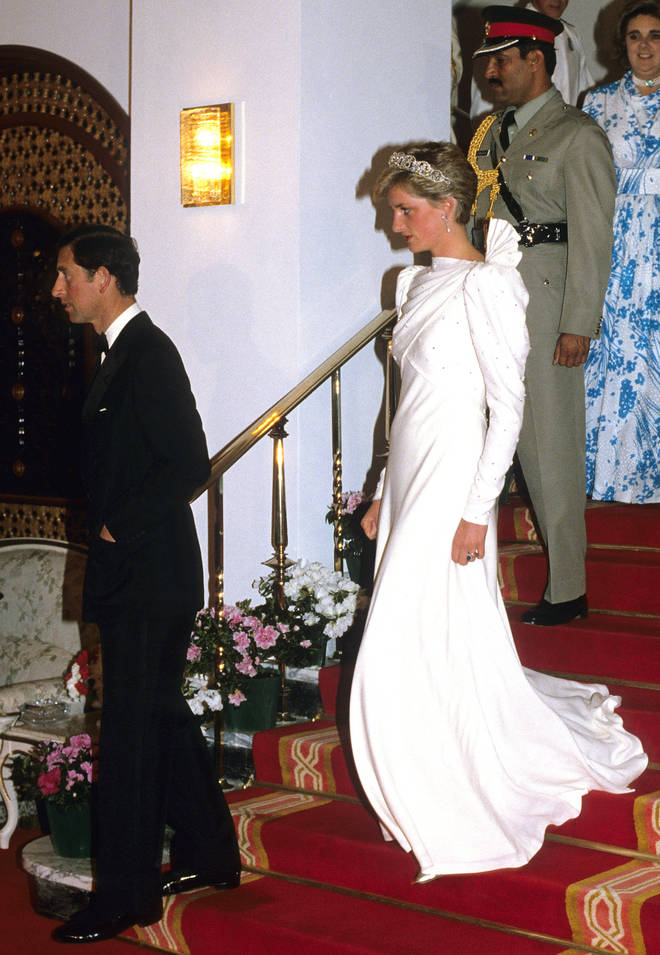 Diana wore the dress for a state trip to Bahrain