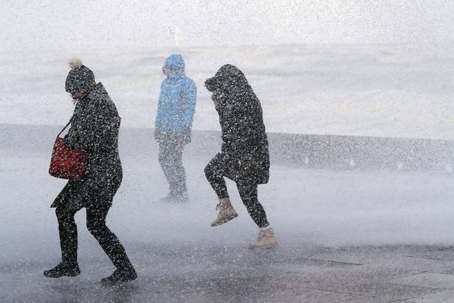 Snow is expected to hit parts of the UK