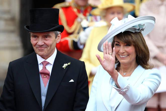 Carole and Michael Middleton at Kate's Royal Wedding