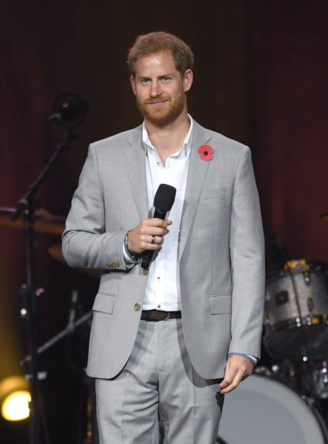 Prince Harry pictured 22 years later at the Invictus Games Closing Ceremony in Sydney