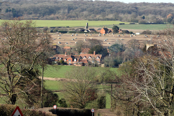 A view of Bucklebury, where Kate grew up and Carole and Michael still live