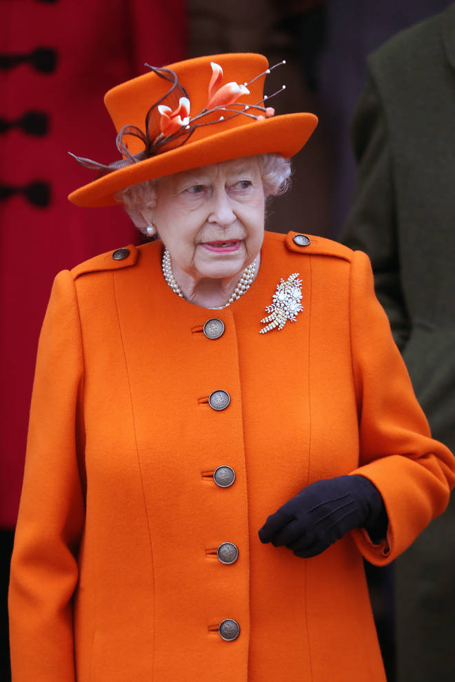The Queen pictured on Christmas Day 2017