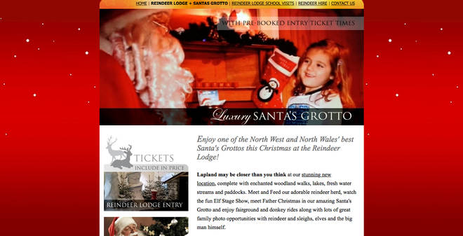 Reindeer Lodge's website made the attraction look like a dream for adults and kids