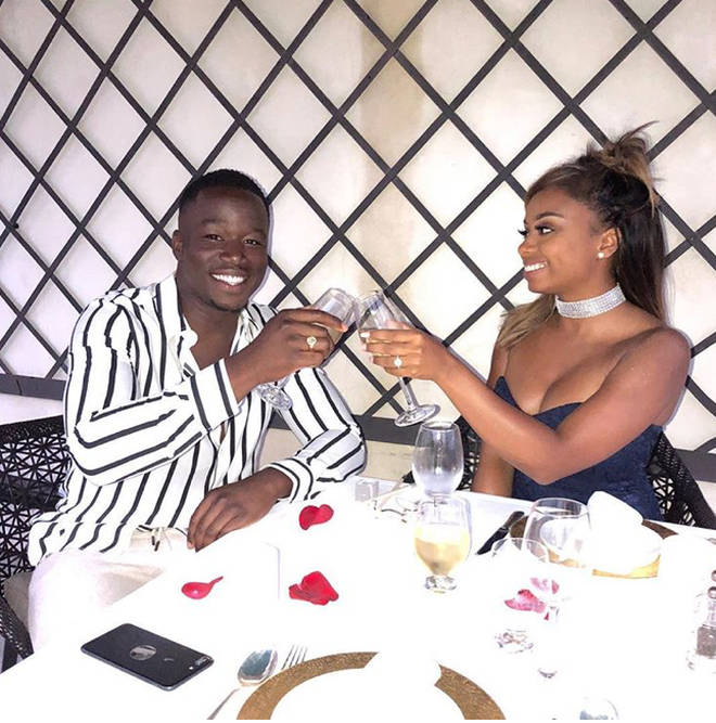 Keshia got engaged in May this year