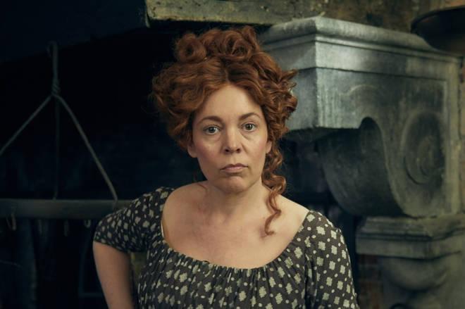 Olivia Colman as Madame Thenardier in Les Mis