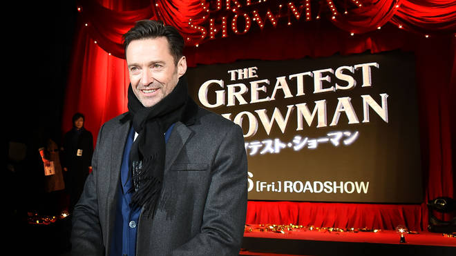 Hugh at the Japanese premiere of The Greatest Showman