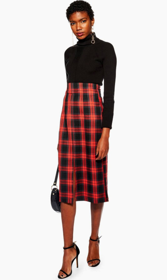 This Topshop skirt is perfect figure hugging option