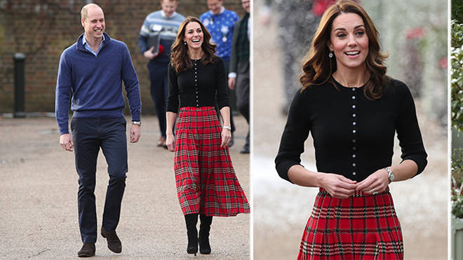 The Duke and Duchess of Cambridge hosted a Christmas party at Kensington Palace