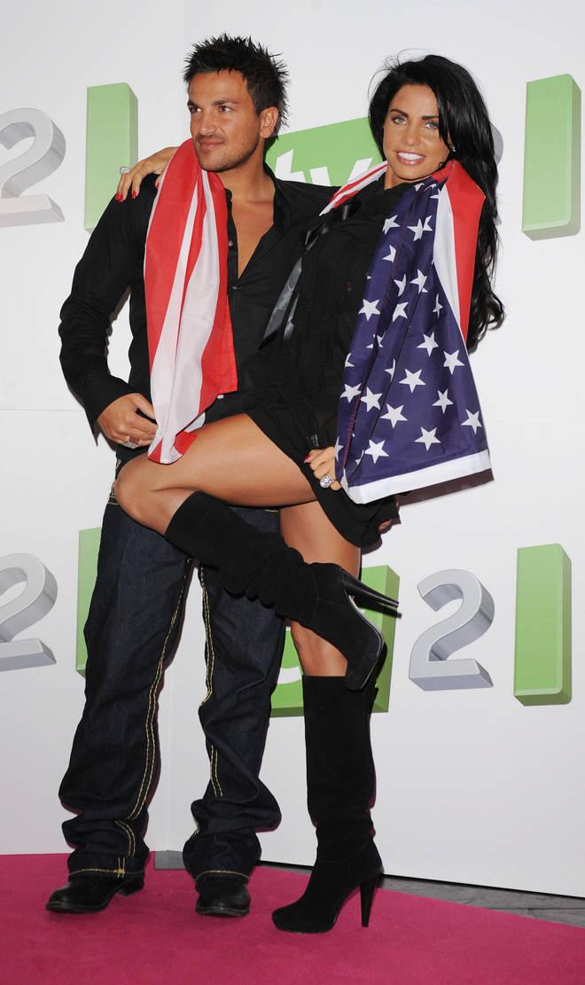 Katie Price and Peter Andre met in 2004