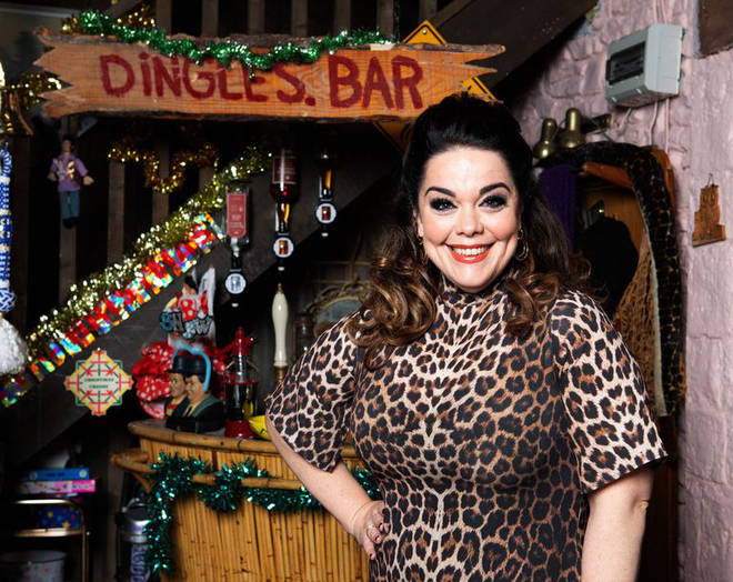 Lisa Riley returns as Mandy Dingle over the new year