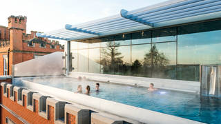 The newly opened infinity pool at Ragdale Hall Spa
