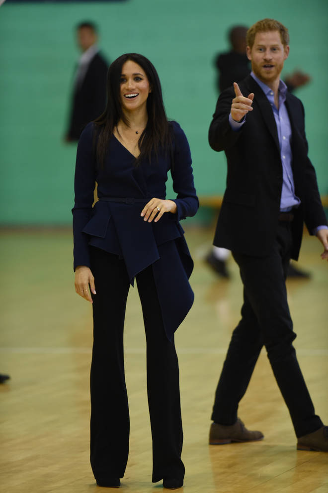 Meghan has always been found of a trouser suit