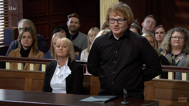 A man who looks exactly like Ed Sheeran appeared on Judge Rinder