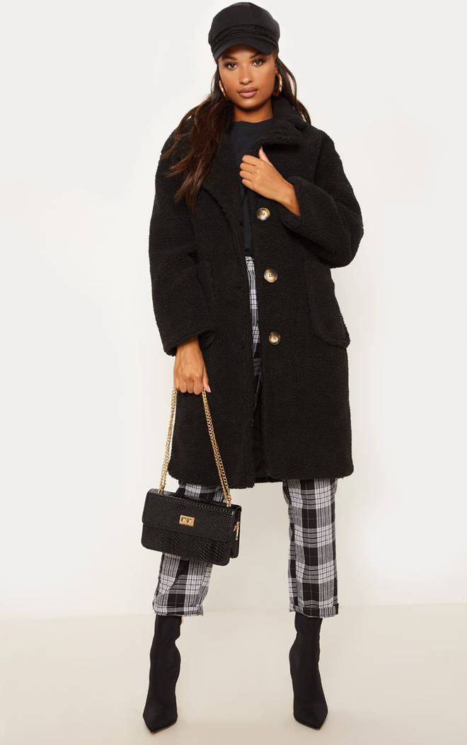 BLACK BORG LONGLINE COAT