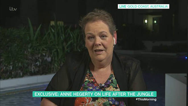 Anne looked slimmer in the face when she appeared on This Morning
