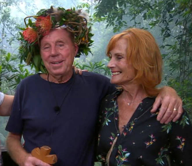 Harry Redknapp was reunited with his beloved wife Sandra after winning I'm A Celeb