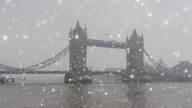 Temperatures in Britain look set to reach -5 degrees