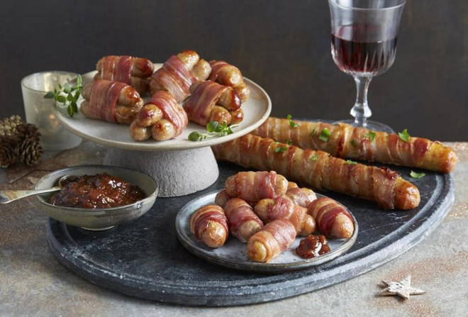 Aldi are offering two foot long pig in blankets at a bargain price