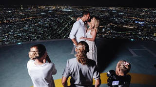 Rio Ferdinand proposing to Kate Wright surrounded by his children